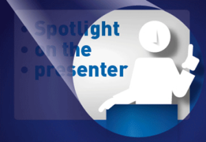 Spotlight on the presenter